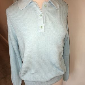Norm Thompson Women's Two Button Sweater Size M